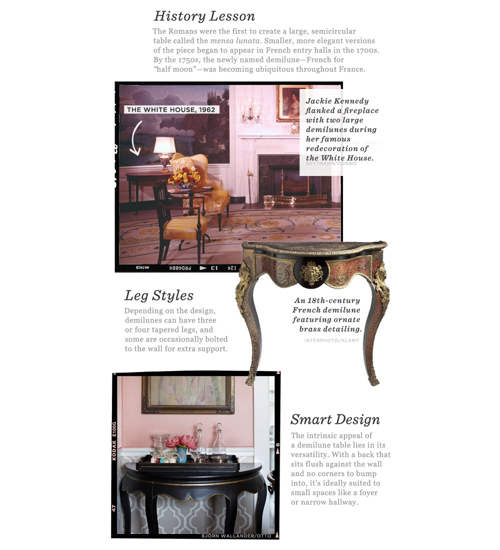 Small Demilune Hall Table your demilune guide