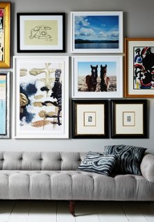This Gorgeous Gray Sofa Provides The Perfect Anchor For Epic Wall Art.