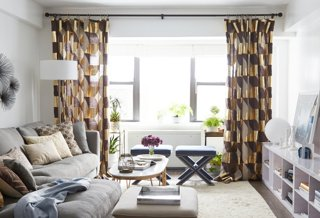 Look How Tall The Ceilings In This Petite Living Room Look Thanks To The  High