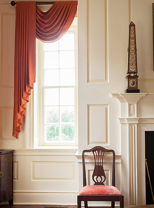 Elizabeth carries the Federal style, with its pleasing proportions inspired by ancient classical designs, into the formal room. An obelisk completes the look.
