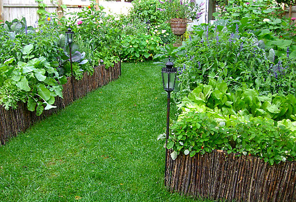 planning his plantings - Garden Ideas In Small Spaces