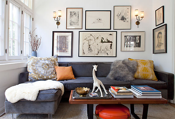 An Artful Living Room
