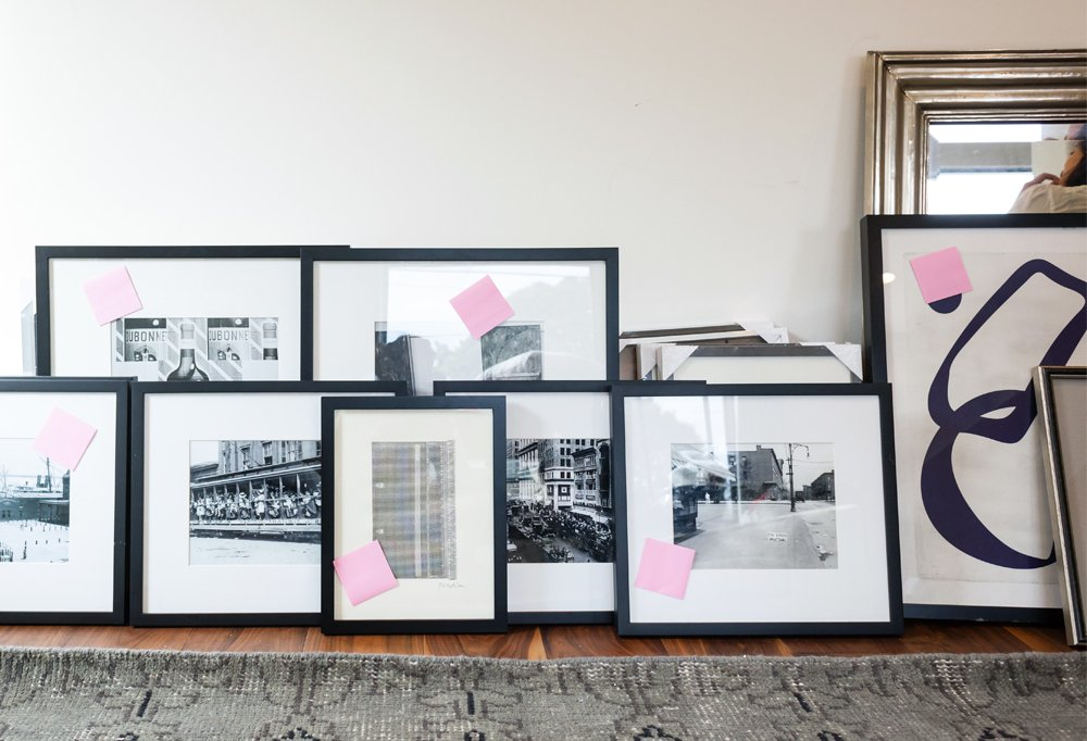 Stylist Alex thinks black-and-white artworks are perfect starter pieces for gallery-wall newbies because you canwork in both vintage and contemporary photos and paintings, and the resulting mix looks timeless and insanely sophisticated.