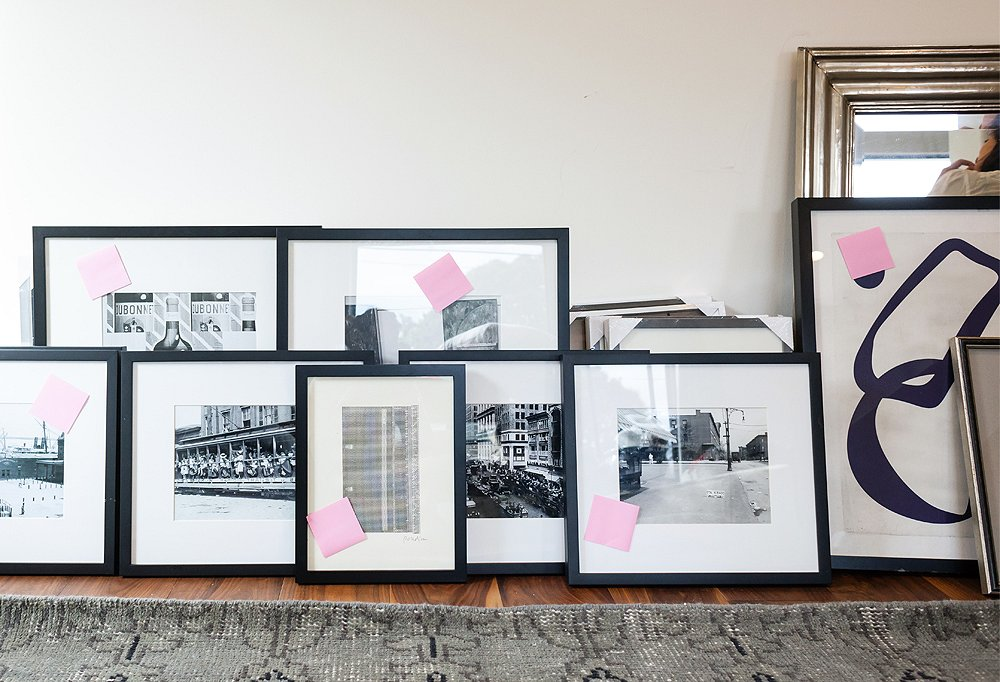 Stylist Alex thinks black-and-white artworks are perfect starter pieces for gallery-wall newbies because you can work in both vintage and contemporary photos and paintings, and the resulting mix looks timeless and insanely sophisticated.