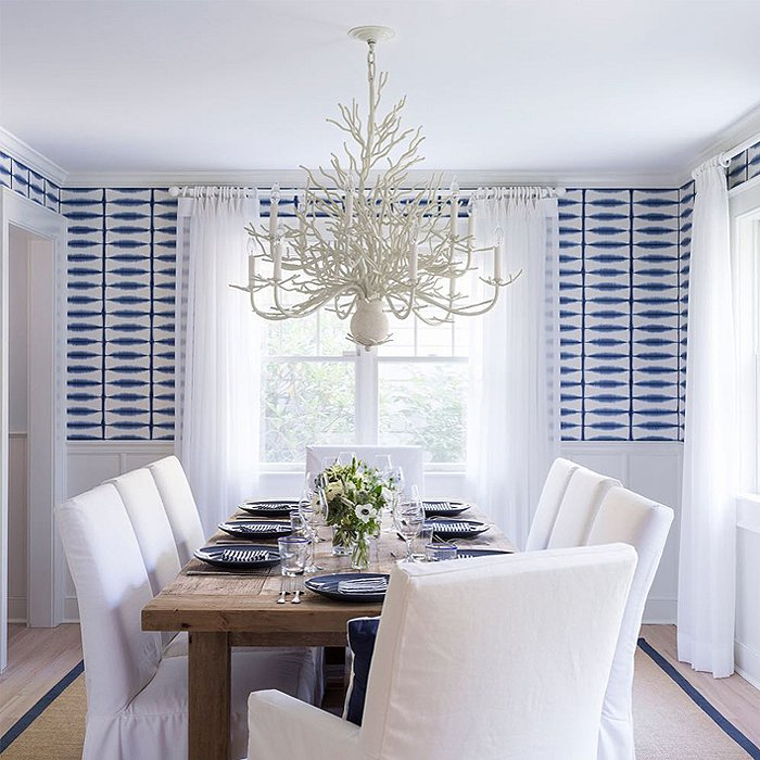 6 gorgeous blue and white designs - Our fave color for dining room decorating ideas ...