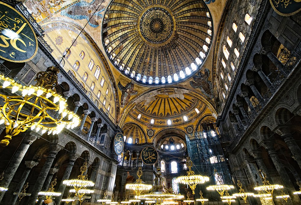 The One Kings Lane crew was completely inspired by the marble and mosaics inside Hagia Sophia. Photo byDavid Coleman