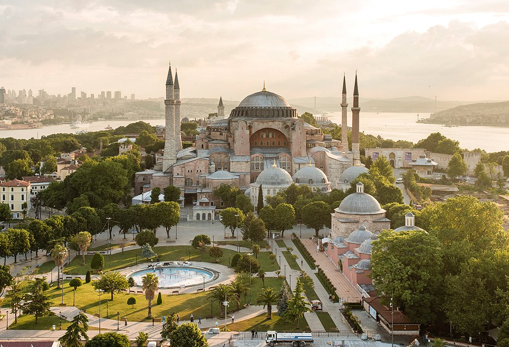 Once a Greek Orthodox church, then a mosque, the sixth-century Hagia Sophia is now a must-hit museum. Photo byClaudius Schulze/laif/Redux Pictures