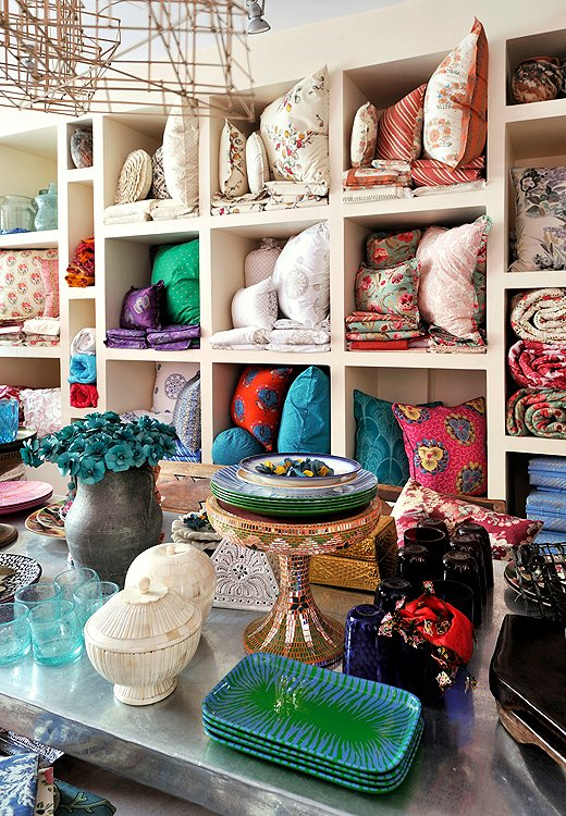 Textile-lovers, take note: Tulu Textiles is where in-the-know stylesetters score the dreamiest pillows, linens, and fabric. Photo courtesy of Tulu Textiles