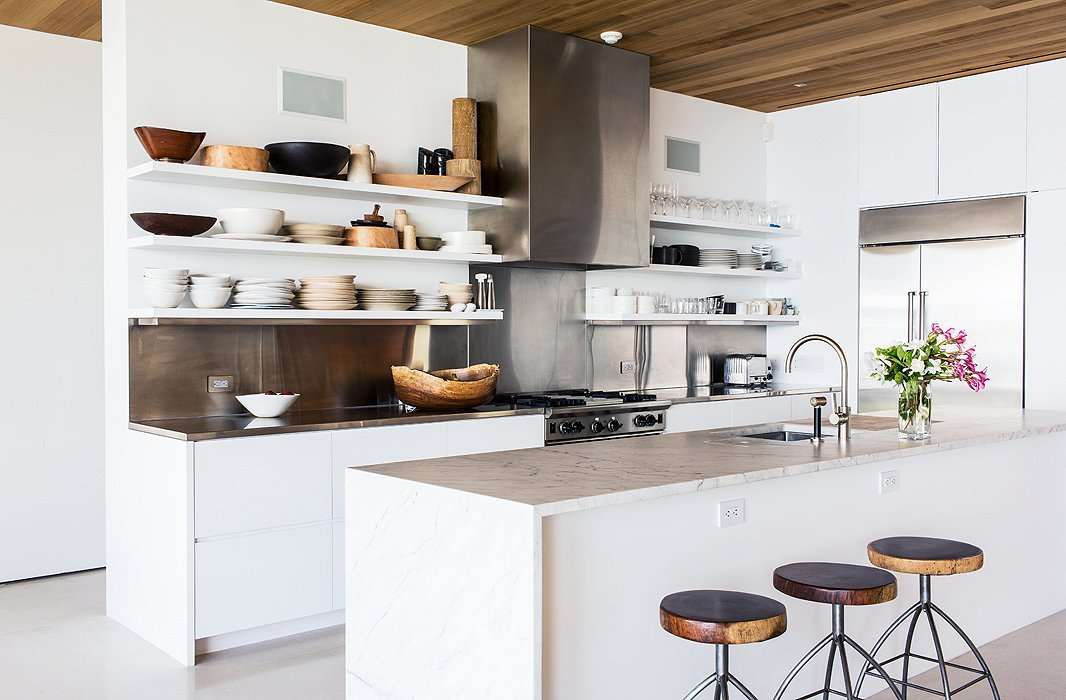 Inside the breezy palm beach home of kelly klein All white kitchen ideas