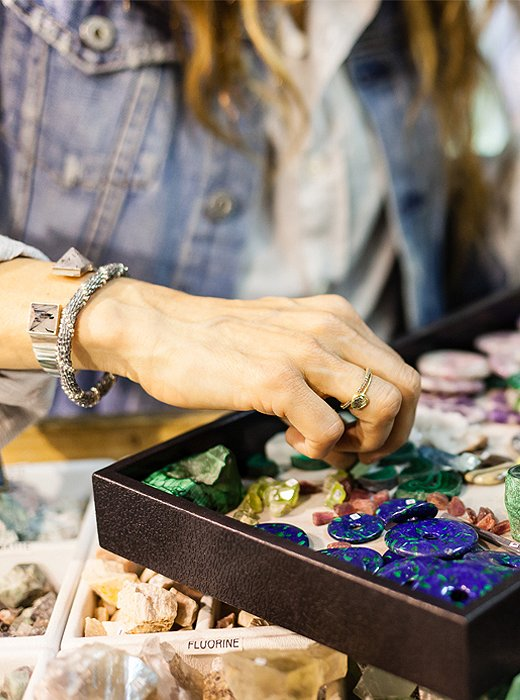 Unearthing one-of-a-kind gems and stones at Minerales do Brasil.