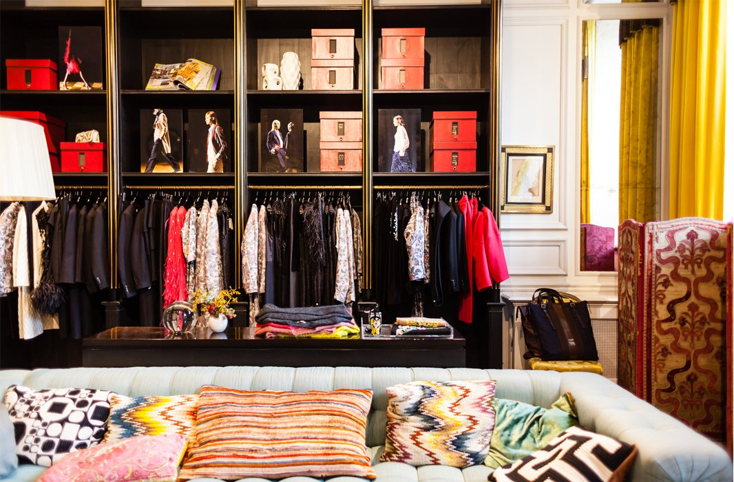 When Kelly jets to Paris, she brings empty suitcases just for clothes. Besides vintage stores, Dries van Noten (pictured) is another favorite.