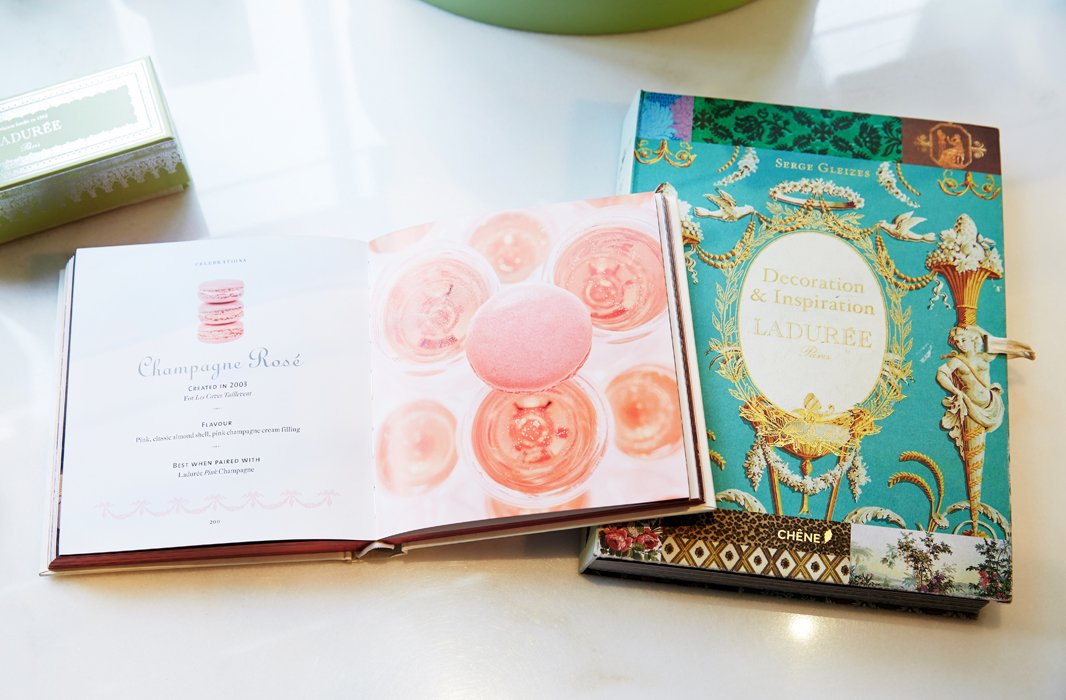 Ladurée's coffee table books are a treasure trove of inspiration, both honeyed and historical.