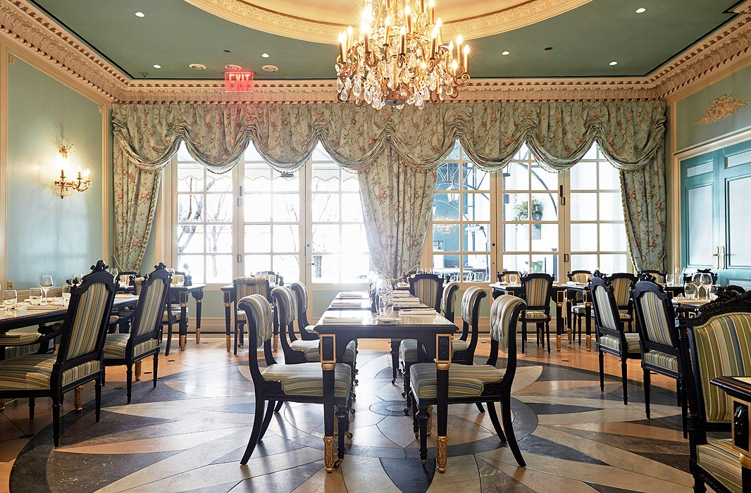 With all the trappings of an 18th-century ballroom—those sky-high ceilings, that stuff-of-fantasies decor—the lavish salon sets a dreamy scene for special events, though you can brunch or lunch here too. The design was inspired by Madame de Pompadour, a member of the French court and Louis XV's mistress.