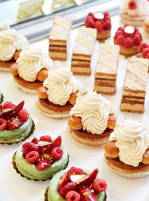 In addition to macarons, Ladurée's pastry team turns out the most delectable tarts, eclairs, and cakes.