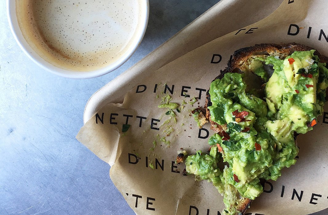 Don't leave Dinette without trying the avocado on toast.