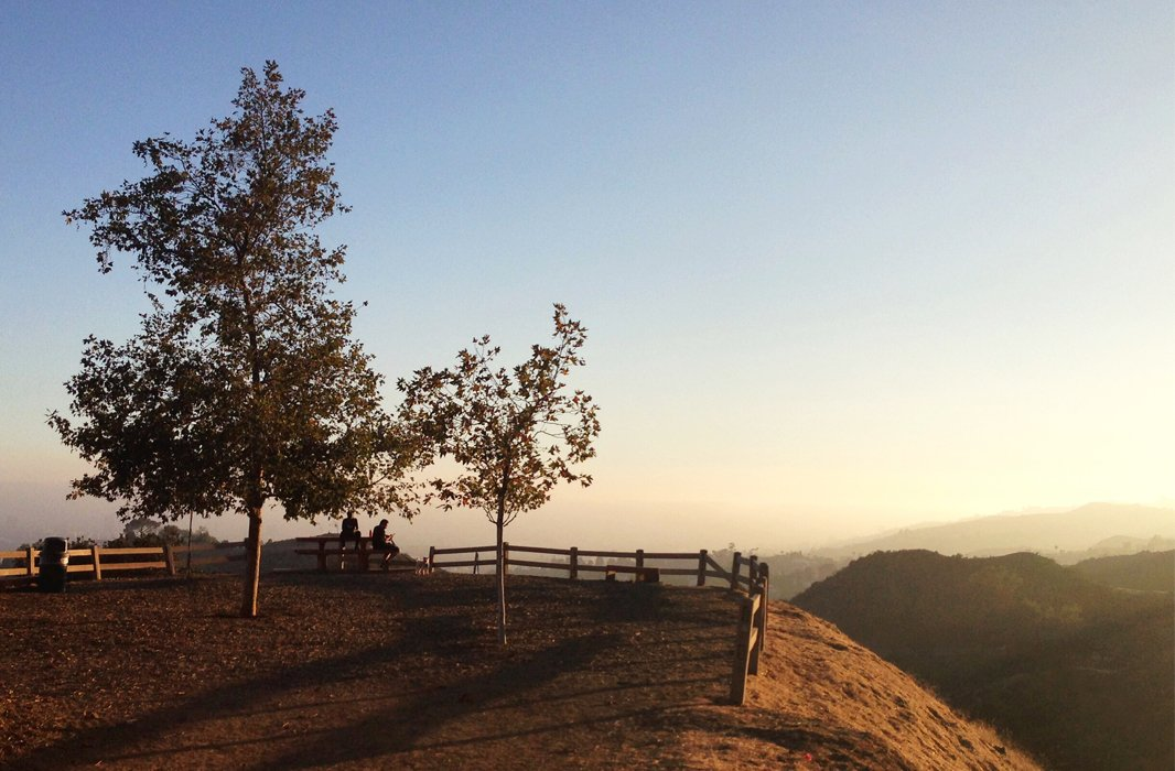 Sunset over Griffith Park, the largest city park in the U.S.