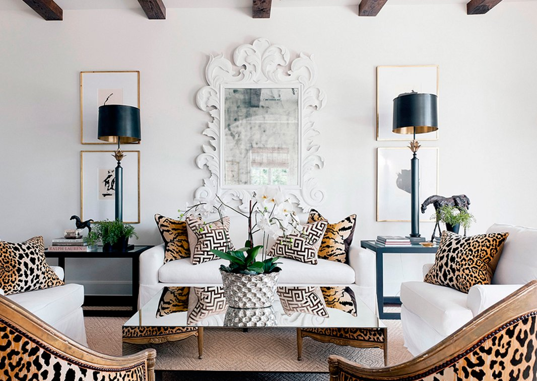 The Five Hottest Ways To Use Leopard Print ~ Designer Pillows For Sofa