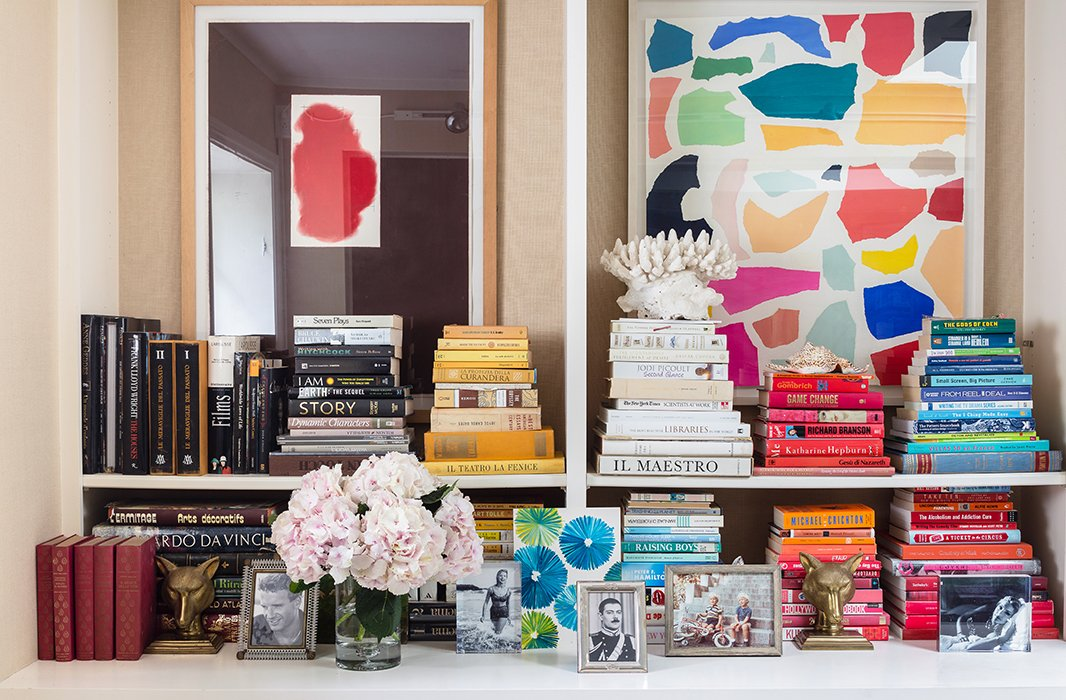 Call her the pioneer of the color-coordinated bookshelf. Years ago, Vogue published a photo of Lulu's bookshelves that sparked the beginning of the decorating mini-trend.