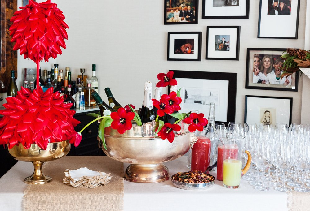 Don't overlook chances to decorate! Even the bar deserves an accent or two.