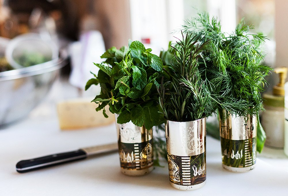 Not only can fresh herbs season your food, but they can also double as decor.