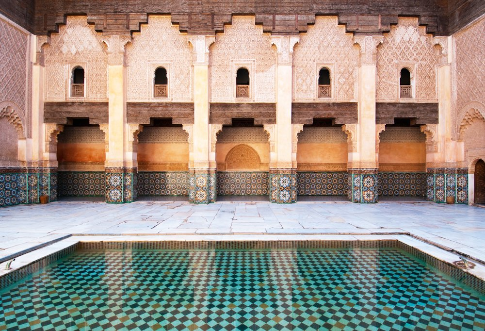 Marrakech is known for its Moorish architecture, and one of the best examples is Médersa Ben-Youssef, a Koranic college-turned-preserved site that's open to the public