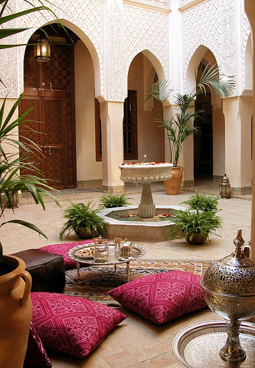 Susan and Ethan's home base for the trip? Riad Kniza, an 11-room wonder with three open courtyards and breakfast served on a rooftop terrace.