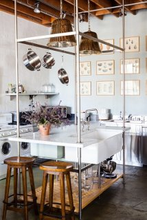The Well Appointed Office Kitchen Features Fixtures From Smithu0027s  Collaboration With The Luxury Plumbing Manufacturer