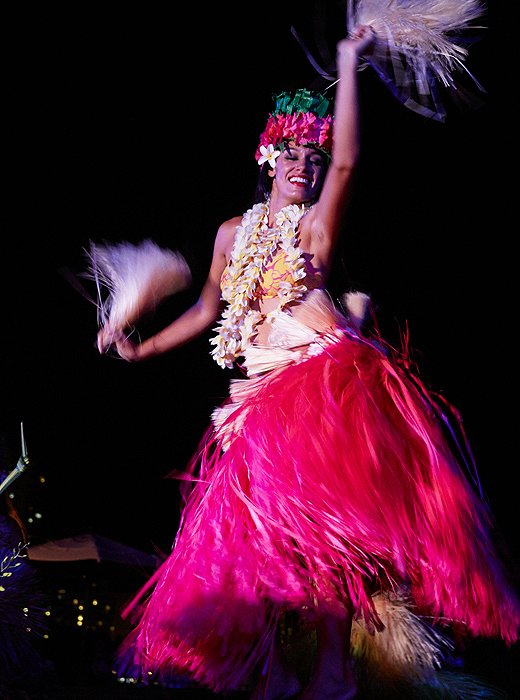 It wouldn't be a luau without hula dancers who enchanted the crowd, telling ancient stories with their hands—and hips.