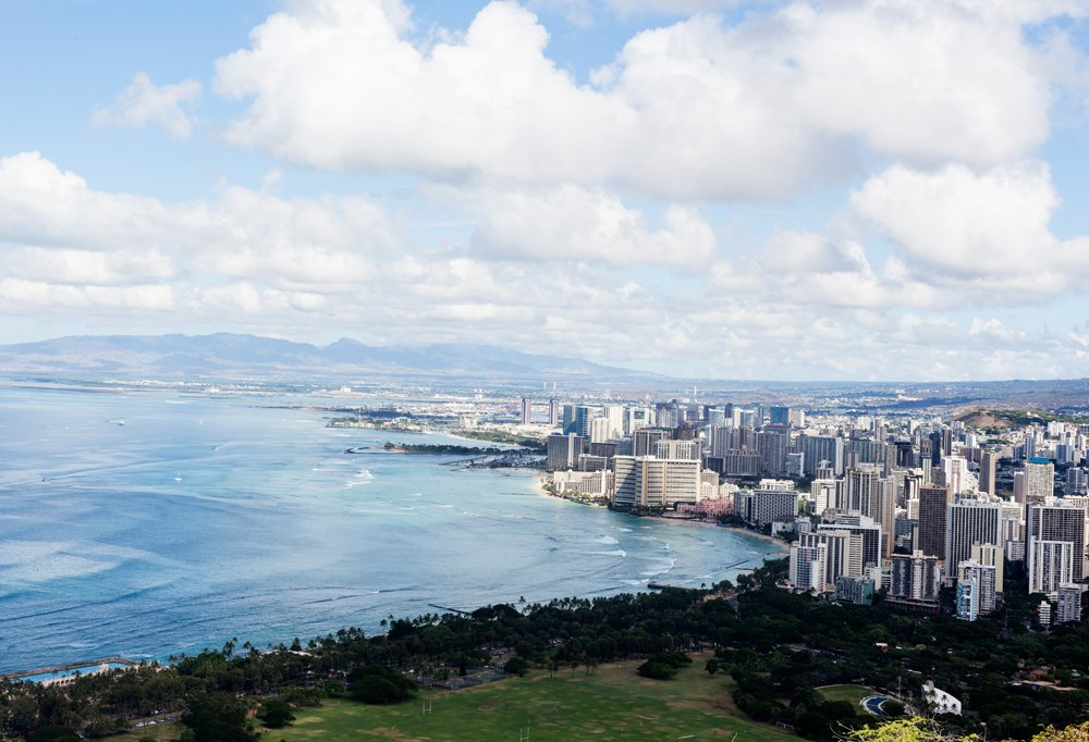Hike to the top of Diamond Head and you'll be rewarded with an epic view of Waikiki.