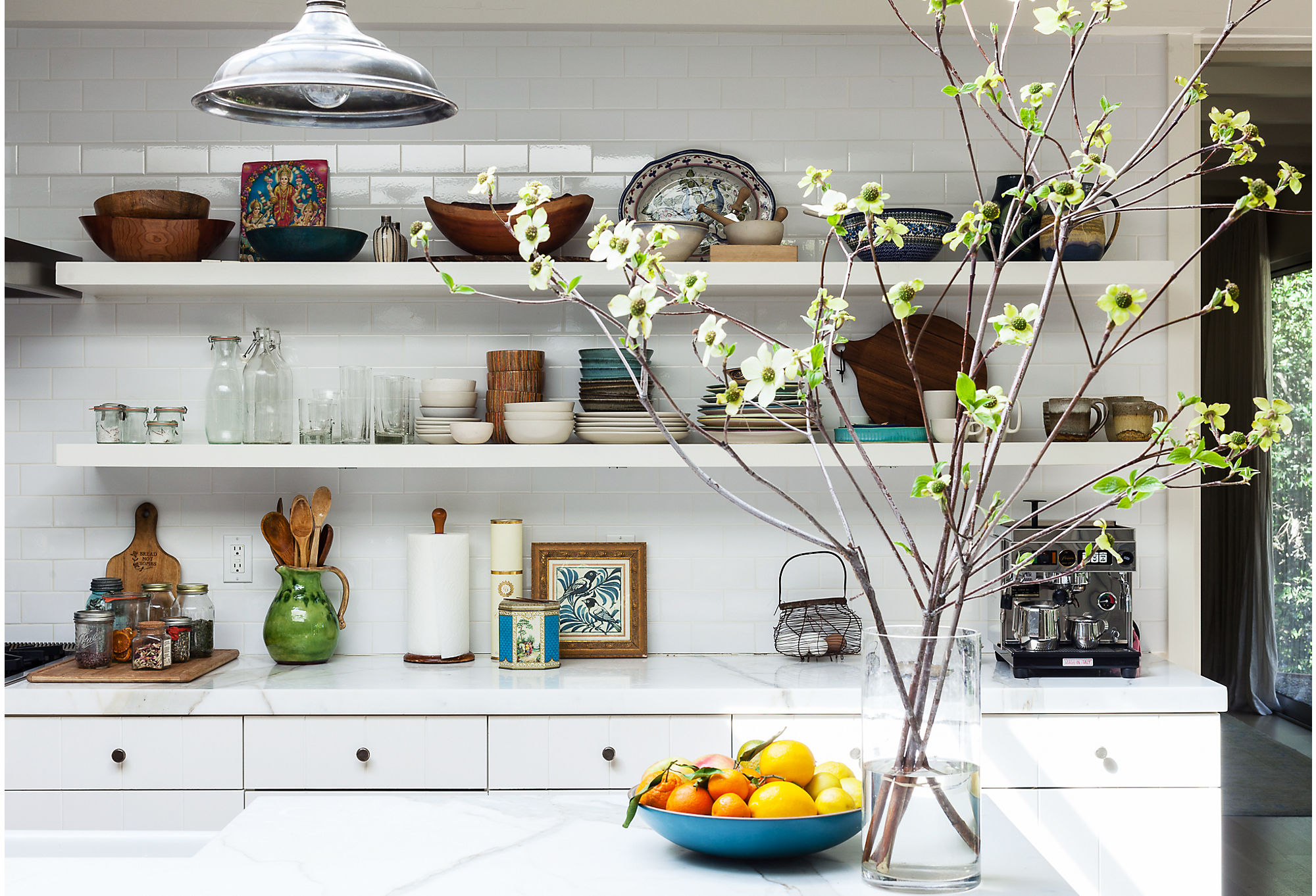 Bright white countertops are timeless, but there are some things you need to consider before you install. Photo by Nicole LaMotte.
