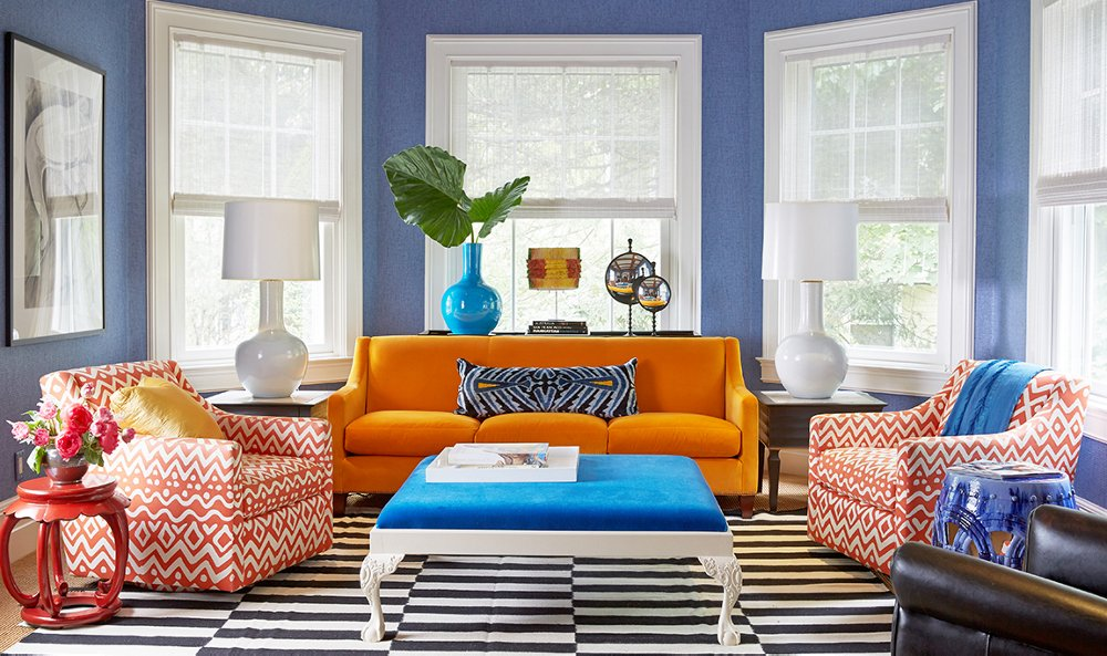 Bright Colors For Living Room Plans these 6 lessons in color will change the way you decorate – one