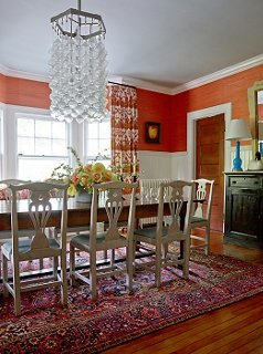 Mele Covered Two Thirds Of The Dining Room Walls With White Wainscoting To  Temper The
