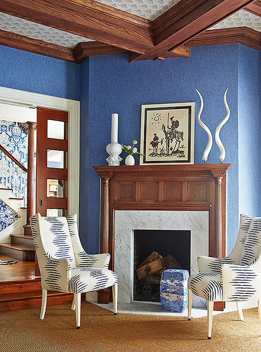 the homeowner loves blue so that was the first color mele decided to focus on
