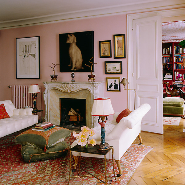 Find the perfect pink paint color for Elle decor best dining rooms