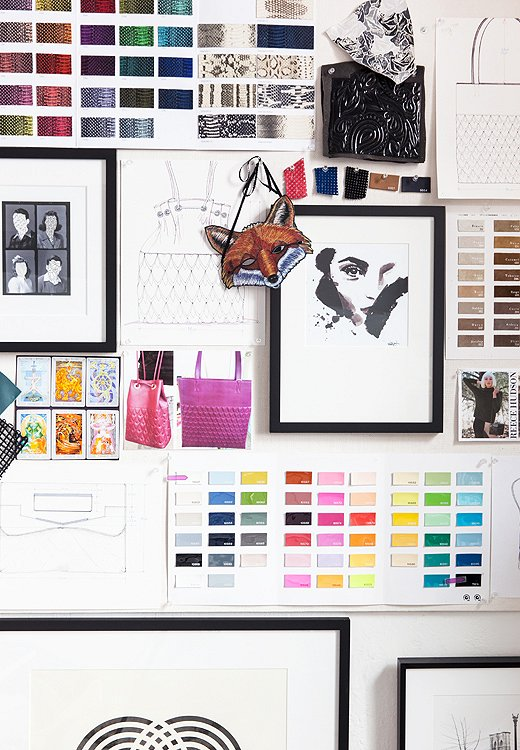 As artful as this wall appears, it acts as an ever-changing inspiration and mood board above all else.