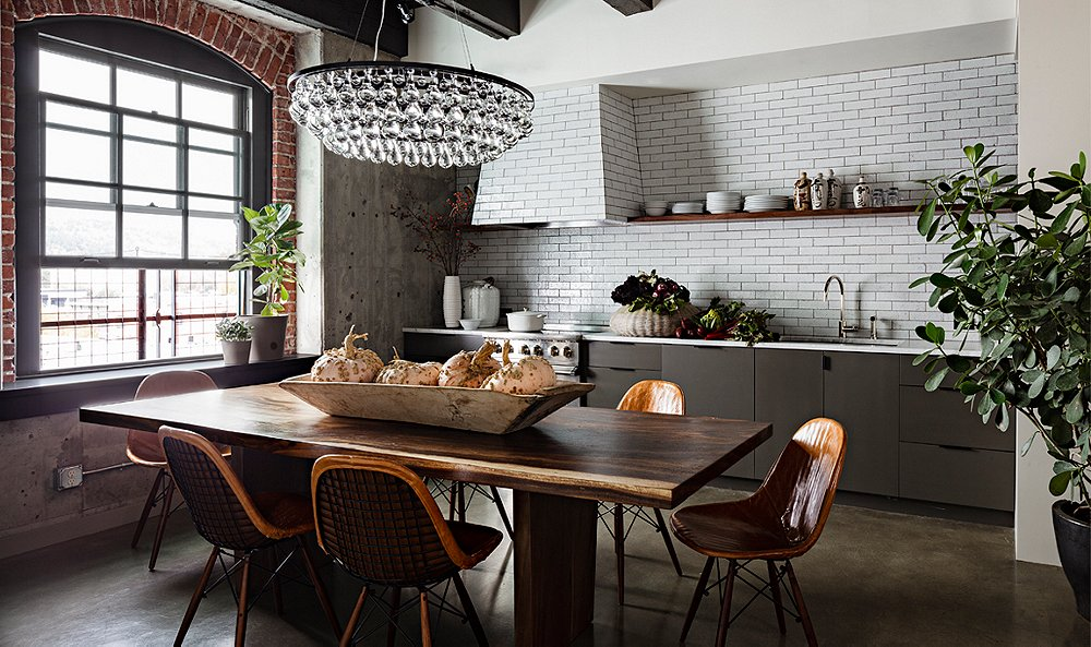 Room Crush: Industrial Glam Kitchen