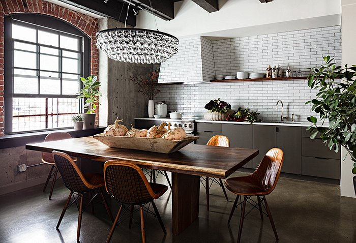 Room Crush Industrial Glam Gray Kitchen One Kings Lane