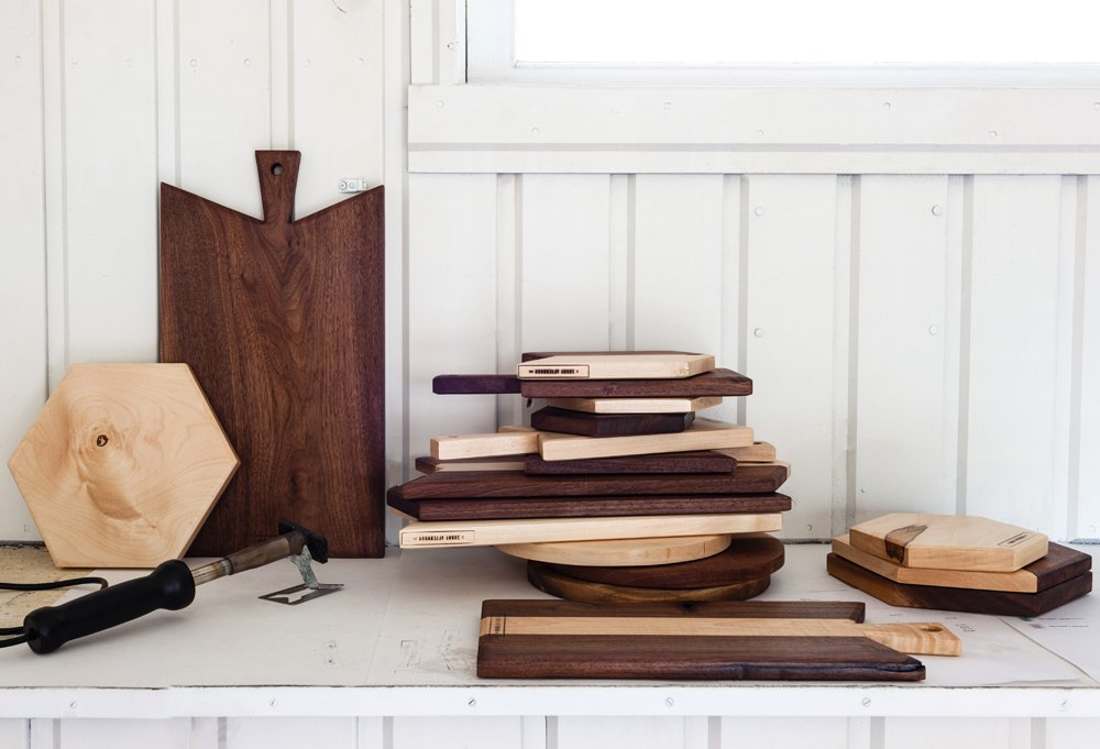 Sarah brands each of her cutting boards with an A Sunny Afternoon emblem.