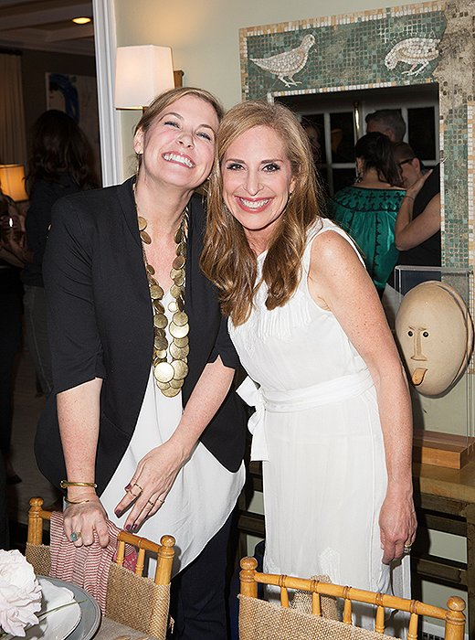 Another A-list decorator in attendance: Los Angeles-based Molly Luetkemeyer (enjoying a laugh here with Susan).
