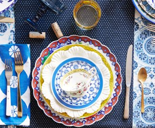 2. Play with Shapes & Tips for Mix-and-Match Table Settings -- One Kings Lane