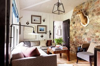 A Low Key Palette And Patterns In The Same Scale Make A Room Filled With