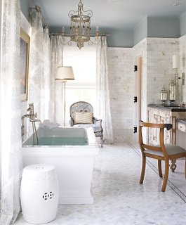 Decorating Ideas for White Bathrooms