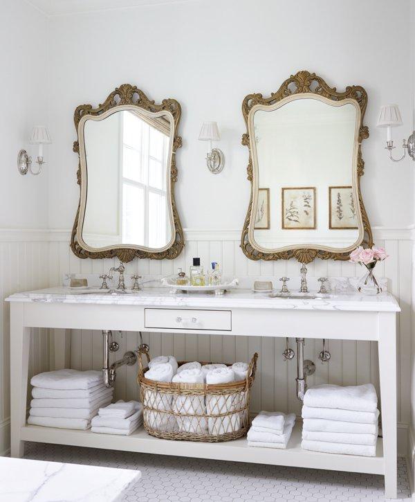 Bathroom Kings decorating ideas for white bathrooms