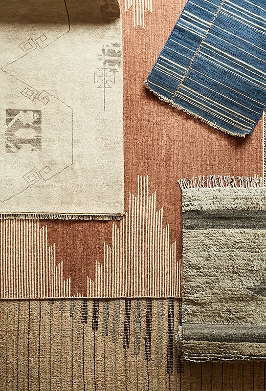 Each rug is a study in texture, pattern, and color.