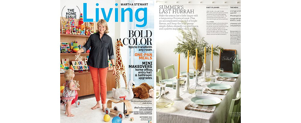"""The cover of the September issue and an entertaining story from the same issue. For Pilar, """"the ability to pass along something that helped me in some way, whether it's big or little, is what makes my job rewarding."""" (Cover photo by Francois Dischinger; Lifestyle photo by Johnny Miller)"""