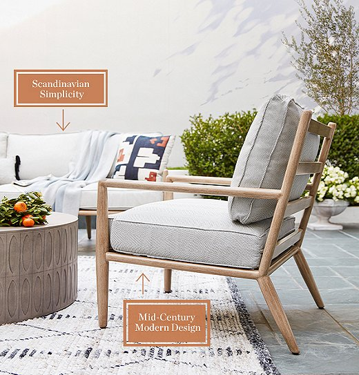 Mid-Century Modern gets a fresh look with our Siena collection.