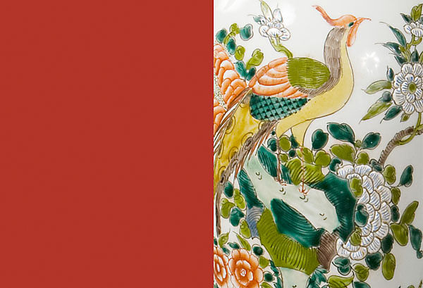 Color & Pattern: <br>Striking Red & Stylized Chinoiserie