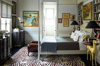 Peter Rogers Used A Bold Brown And White Zebra Carpet For The Floors,