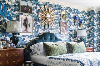 In True More Is More Style, Designer Alex Papachristidis Added A Statement  Starburst Mirror To
