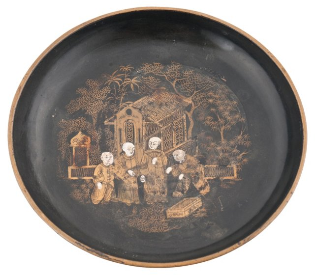 Antique Chinoiserie Wine Coaster